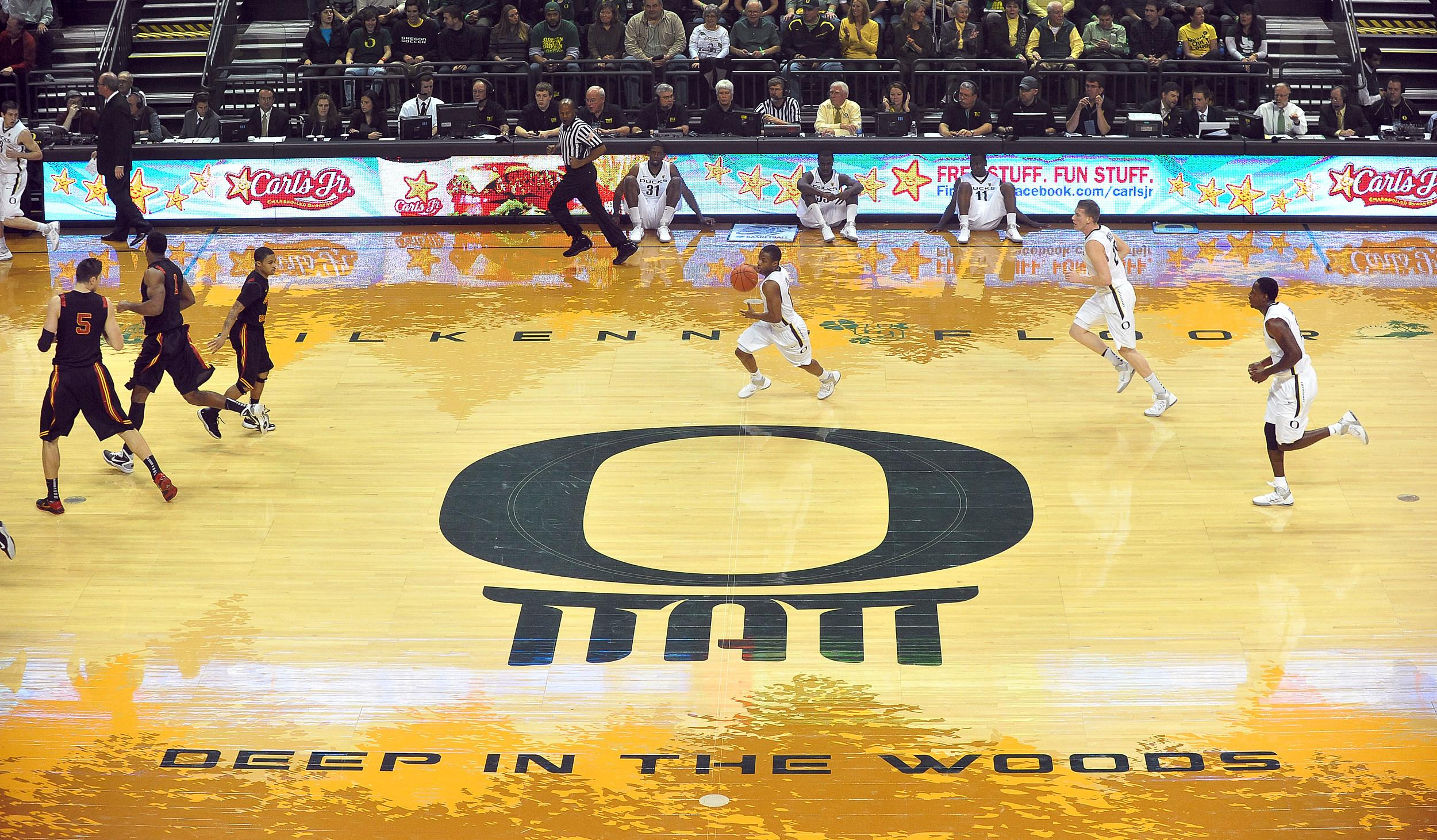 Oregons new basketball court for Oregon floor