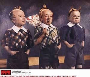 Three of the wrestling midgets