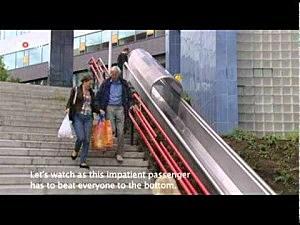 Dutch Install Slide at Train Station
