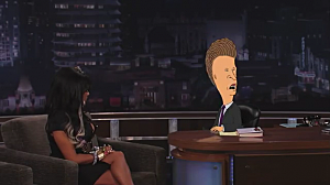 Snooki with Beavis and Butthead on Jimmy Kimmel Live