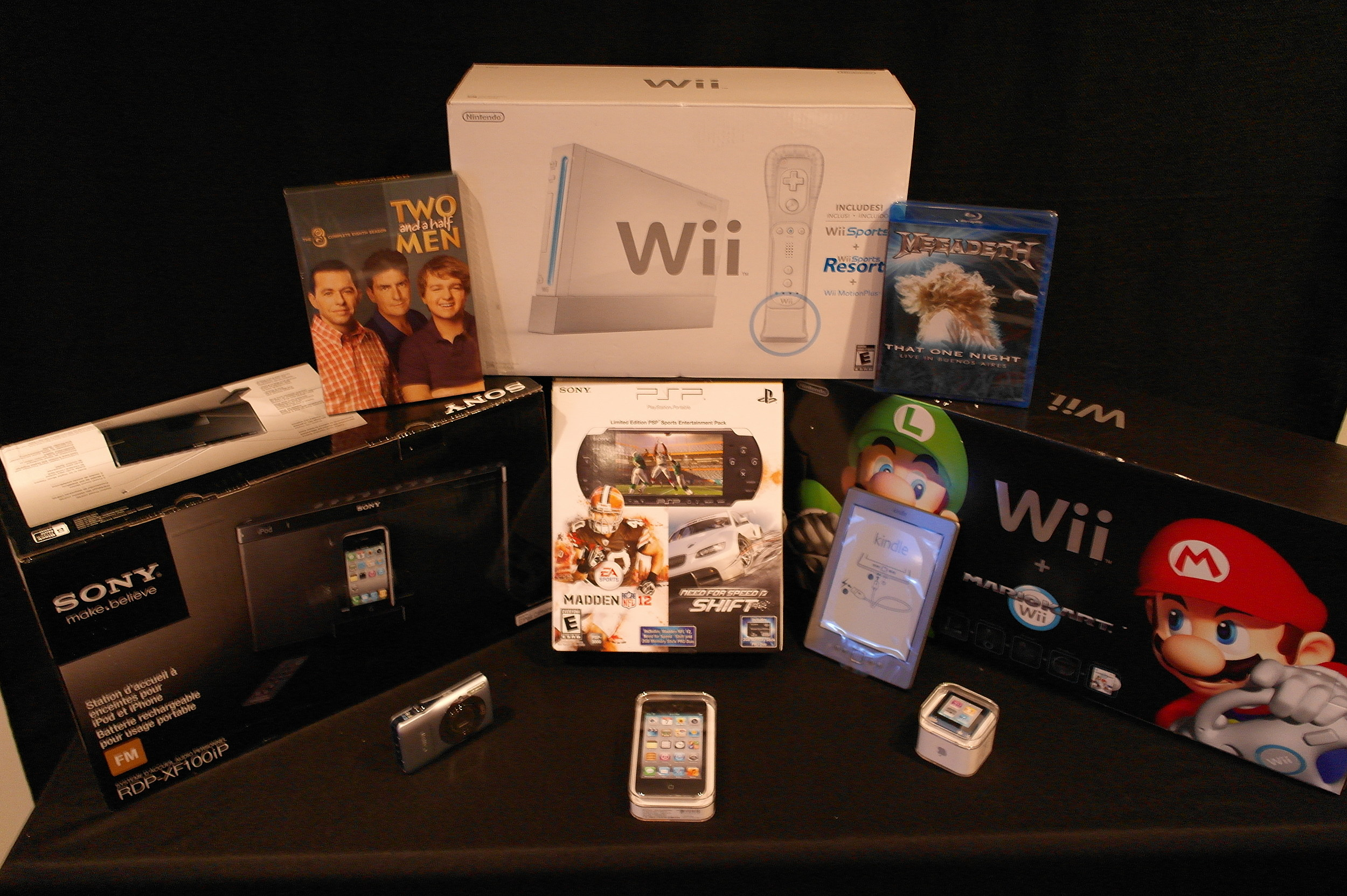 Wii and Misc Prizes