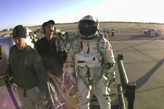 Felix Baumgartner -- diving from space 23 miles