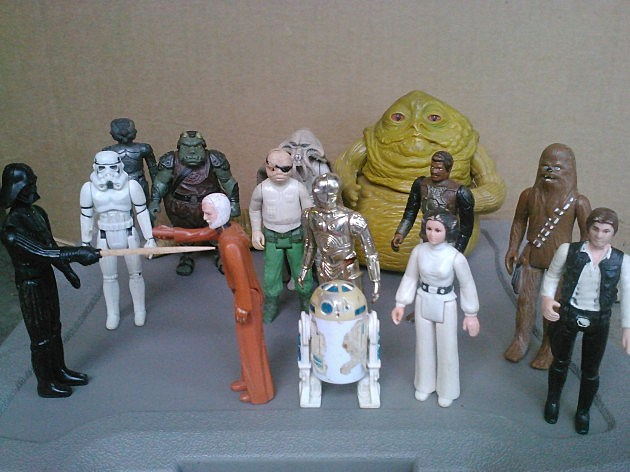 Star Wars 80s Toys : Tree found some cool toys from the s in his garage
