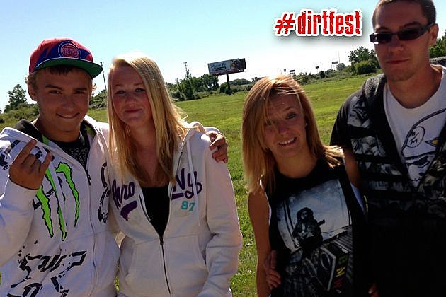 Kids Waiting in Dirt Fest Line