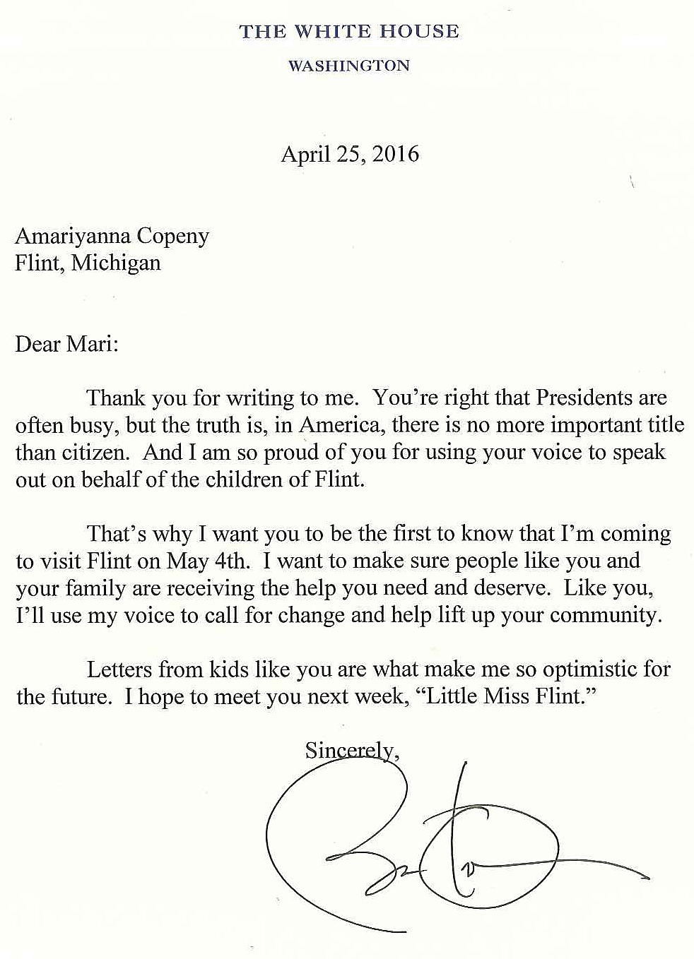 pres obama to flint next week in response to year old s obama letter 2655680 ver1
