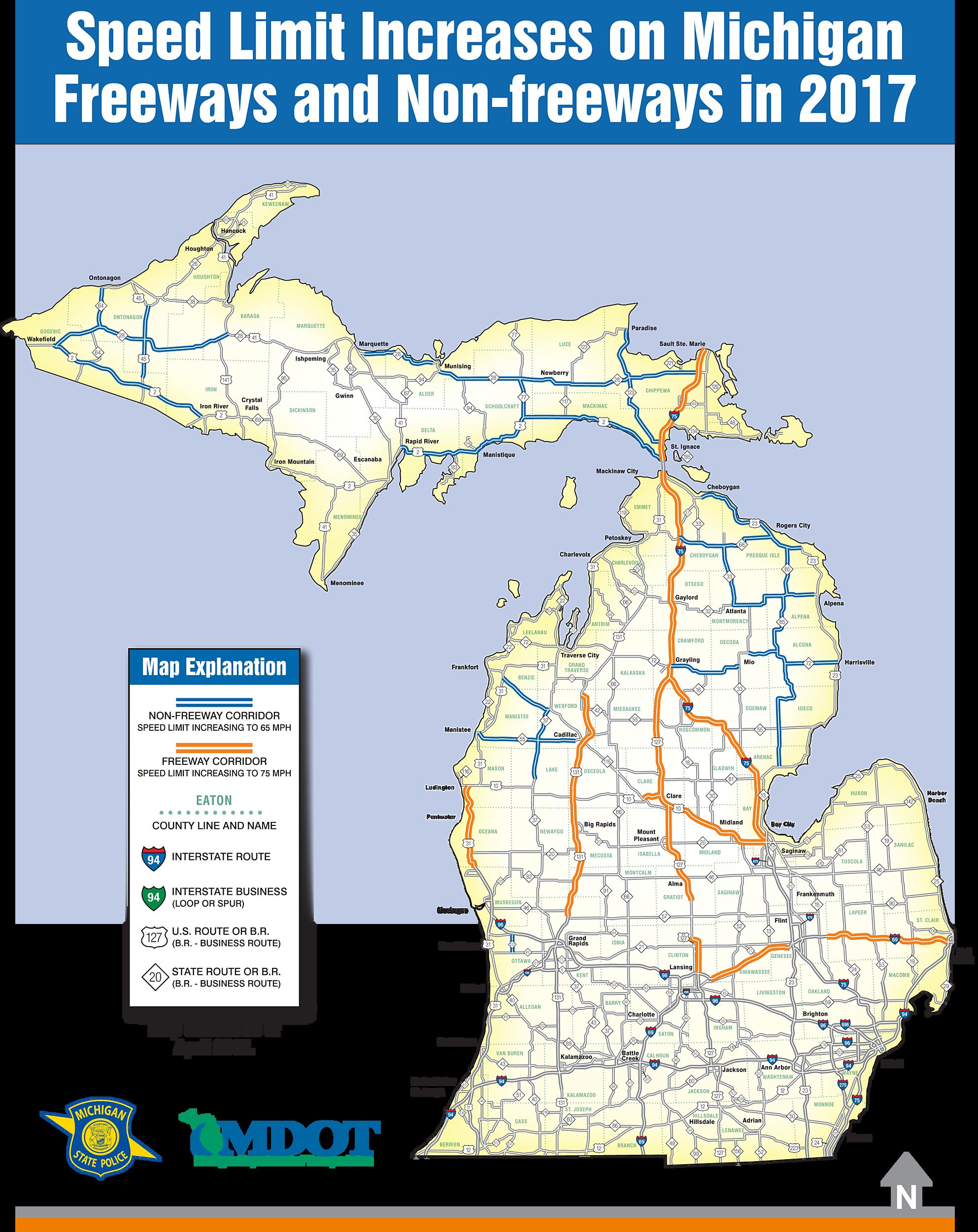 Speed Limit Map Us 23 Michigan | www.picsbud.com